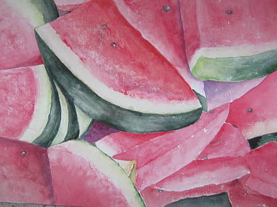 Watermelon Feast Art Print
