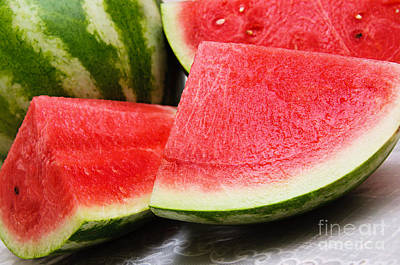 Watermelon Photograph - Watermelon In Summertime by Andee Design