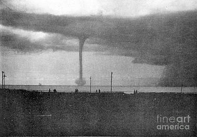 Waterspout Photograph - Waterspout, 1896 by Science Source
