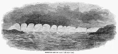 Maltese Photograph - Waterspouts, 1856 by Granger