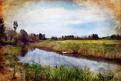 Waterway Art Print by Margaret Hormann Bfa