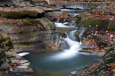 Watkins Glen Falls Print by Jeff Bord