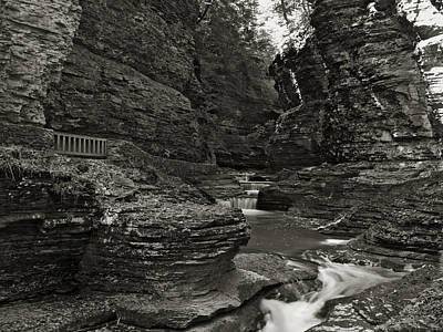 Photograph - Watkins Glen In Black And White by Joshua House