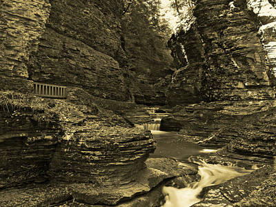 Photograph - Watkins Glen In Orotone by Joshua House