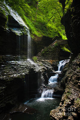 Watkins Glen Photograph - Watkins Glen - Rainbow Falls by Cassandra Lemon