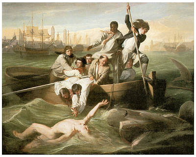 Shark Painting - Watson And The Shark by John Singleton Copley