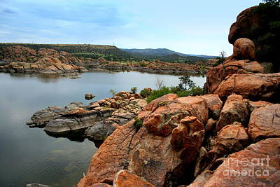 Watson Lake Reflections Photograph - Watson Lake  by Julie Lueders