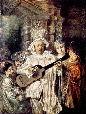 Watteau: Gilles & Family Print by Granger