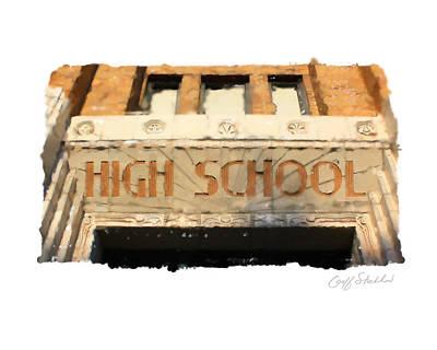 Digital Art - Wauwatosa East High School by Geoff Strehlow