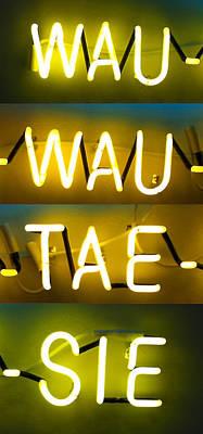 Store Digital Art - Wauwautaesie Neon 2 by Geoff Strehlow