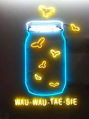 Digital Art - Wauwautaesie Neon by Geoff Strehlow