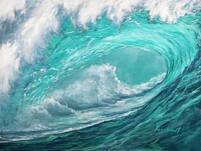 Painting - Wave 10 by Lisa Reinhardt
