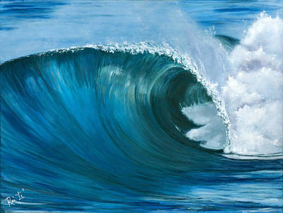 Wave 2 Art Print by Lisa Reinhardt