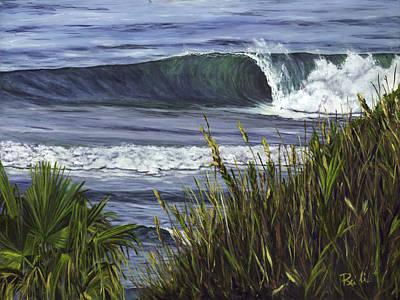 Wave 4 Art Print by Lisa Reinhardt
