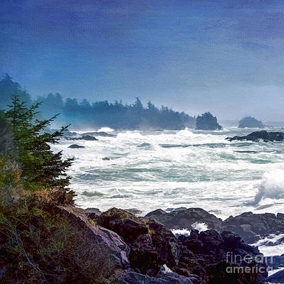 Digital Art - Wave Art Triptych 1 by Nancy Morgantini