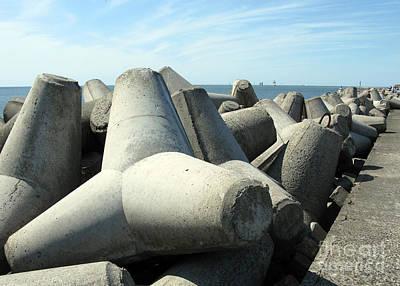 Photograph - Wave Breakers. Klaipeda. Lithuania. by Ausra Huntington nee Paulauskaite
