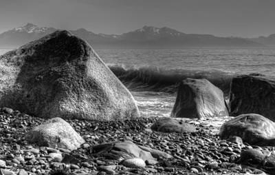 Art Print featuring the photograph Waves At Diamond Beach by Michele Cornelius
