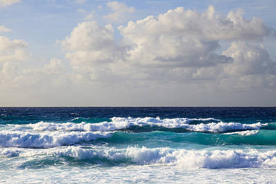 Y120817 Photograph - Waves At Grand Anse, La Digue, Seychelles by F. Lukasseck
