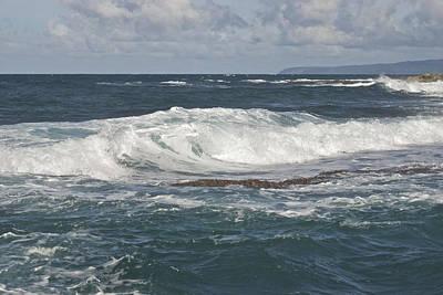 Waves Breaking 7952 Art Print by Michael Peychich