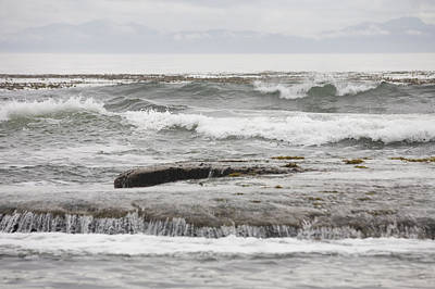 Botanical Beach Photograph - Waves Crash Ashore Over Reefs by Taylor S. Kennedy