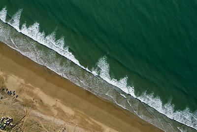 Agadir Photograph - Waves Crash On The Beach North by Michael Fay