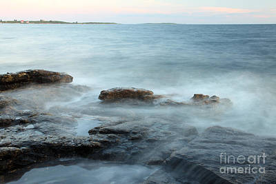 Waves On The Coast Art Print by Ted Kinsman