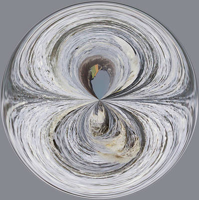 Waves Orb Art Print