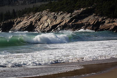 Photograph - Waves Rolling In by Greg DeBeck