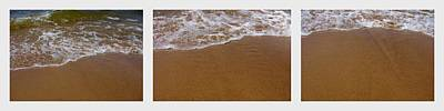 Photograph - Waves Triptych by Michelle Calkins