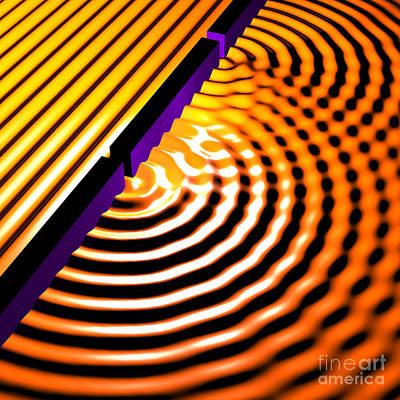 Quantum Science Digital Art - Waves Two Slit 2 by Russell Kightley