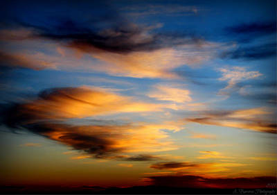 Wavy Sunset Clouds Art Print by Aaron Burrows