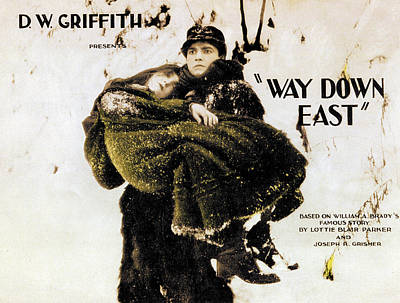 Way Down East, From Left Lillian Gish Art Print by Everett