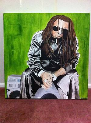 Painting - Wayne by Mike Eliades