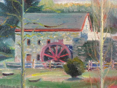 Wayside Inn Mill 2 Original by Sid Solomon