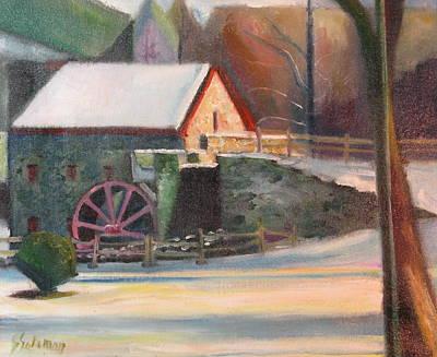 Wayside Inn Mill Art Print by Sid Solomon