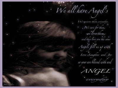 We All Have Angels Art Print by Debra     Vatalaro