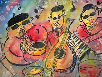 Bass Drum Mixed Media - We Got Rhythm by M C Sturman