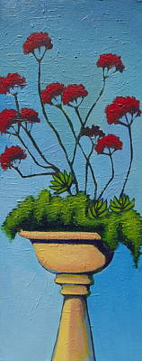Outdoor Still Life Painting - We Lift Our Hands by Erica Shaw
