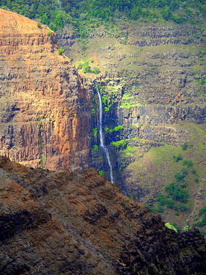 Hawaii Photograph - We Love Waterfalls by Linda Larson