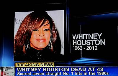 Photograph - We Miss You Whitney Houston  by Paul SEQUENCE Ferguson             sequence dot net