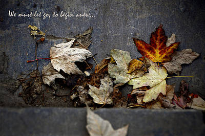 We Must Let Go To Begin Anew... Art Print
