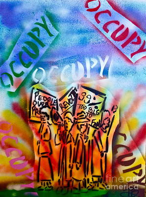 Liberal Painting - We Occupy by Tony B Conscious