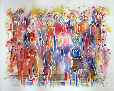 Painting - We Stand United by Mona Mansour Jandali