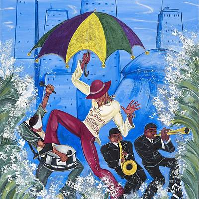 ''we Survived Katrina'' Art Print by Mccormick  Arts
