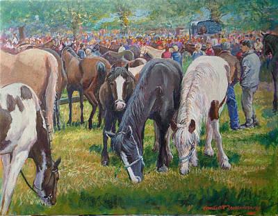 We Three Spancilhill Co Clare Art Print by Tomas OMaoldomhnaigh