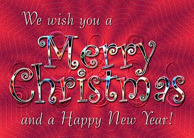 We Wish You A Merry Christmas Art Print by Susan Kinney
