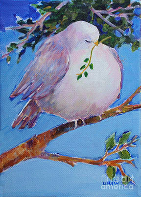 Painting - Weary Dove Of Peace by Diane Ursin