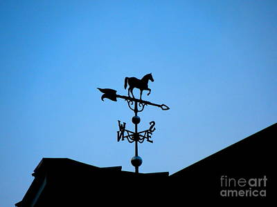 Photograph - Weather Vane Silhouette by Renee Trenholm