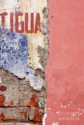 Weathered And Cracked Wall Art Print by Jeremy Woodhouse
