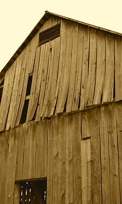 Photograph - Weathered Barn I In Sepia by JD Grimes
